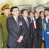 沈陽軍區政委黃獻中上將參觀趙尚志紀念館