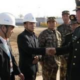 兰州军区司令员王国生上将视察甘肃军区〇九一项目