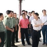 徐粉林將軍檢查防汛要求 密切協調積極備戰