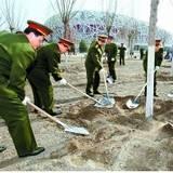 靖志遠參加首都義務植樹