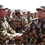 警部队政治委员喻林祥到甘肃省森林总队视察