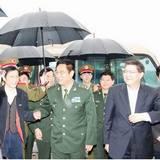 南京軍區政委陳國令上將來澄視察